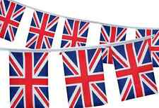 UNION JACK PVC FLAG BUNTING HANGING GARLAND 11 PENNANTS PER LENGTH PATRIOTIC