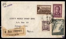 Argentina Airmail Registered Cover To Sydney Ohio Us 1959 With Destination