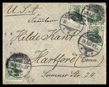 Germany Durrenberg to Hartford Connecticut 1907 Cover
