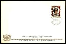 1972 Cook Islands South Pacific Commission Qeii FDC
