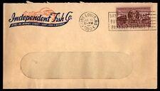 Independent Fish Co St Louis Mo Jul 1950 Slogan Cancel On Open Window Ad Cover