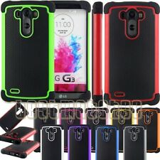 for LG G3 rugged rubber silicon heavy duty shookproof skin case triple layer \