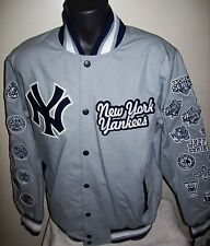 NEW YORK YANKEES 26 TIME WORLD SERIES CHAMPIONS Jacket  GRAY S M L XL 2X