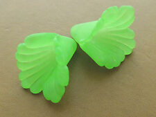 17x17mm 20/../200pcs GREEN FROSTED ACRYLIC PLASTIC FLOWER BEADS SK6091