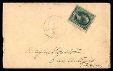 Georgetown Texas Mar 1 1870S Single Franked Cover To San Antonio With Arrival