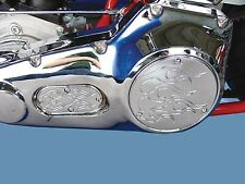 3-Hole Flame Derby and Oval Inspection Set Chrome,for Harley Davidson motorcy...
