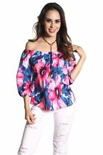 DEALZONE Trendy Sexy Off Shoulder Top S M L Small Medium Large Women Pink
