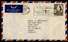 Australia Adelaide Olympic Games 1956 Slogan Cancel on Cover to England