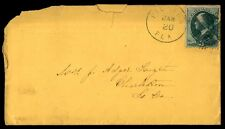 US FLORIDA JAN 20 1880s SINGLE FRANKED BLUE CANCEL ON COVER TO CHARLESTON SC