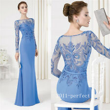 Elegant Beading Long Mother of The Bride Dresses Prom Evening Gown Custom 2017