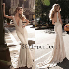 Sexy Mermaid Backless Evening Prom Dresses V-Neck Formal Party Gown 2017 Summer