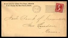 New Haven Ct Apr 20 1894 Machine Cancel On Cover To New London W/ Duplex C