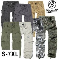 Brandit Men's Security Trousers Pure Vintage Cargo Hose Army Style
