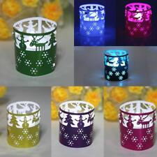 50pcs Laser Cut LED Tea Light Votive Candle Holders Home Table Decor 7 Colors