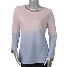Women Lady Casual Long Sleeve Tops Crew Neck T Shirt Loose Blouse Hip Length New