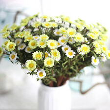 Artificial Fake Silk Daisy Flower Bouquet Home Wedding Party Decoration