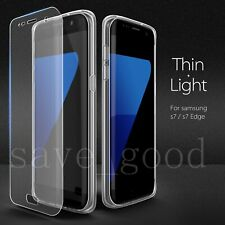 For Samsung Galaxy S7 Screen Protector + Soft Silicone TPU Protective Case Cover