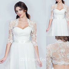 2017 Summer Lace Embroidery Bridal Jackets Wraps Bolero Wedding Jacket Custom