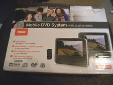 RCA 7 Inch 2 Dual Screen Mobile DVD Player Car Entertainment System, Plus Movie