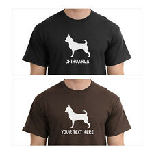 Chihuahua Silhouette T-Shirt, Men Women Youth Long Personalized custom dog
