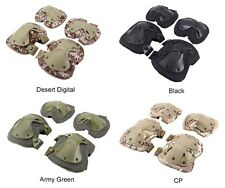 Military CS Tactical Adjustable Knee Pads + Elbow Pads Airsoft Protective Gear
