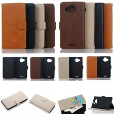 Wallet Leather Card Slot Holder Flip Folio Magnet Case Cover For NOKIA IPHONE