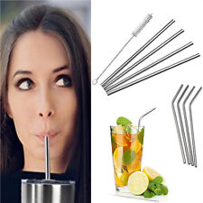 Set of 4/6*Free SipWell Stainless Steel Drinking Straw Cleaning 1*Brush Included