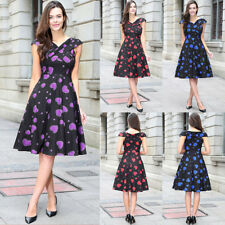 Women's 1950s 60s Vintage Rockabilly Swing Dresses Retro Floral Cocktail Party