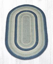 Earth Rugs Braided Breezy Blue/Taupe Area Rug