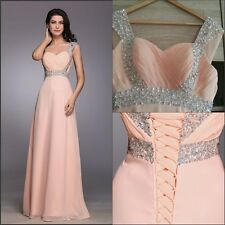 A++Women Sexy Long Evening Ball Prom Gown Formal Bridesmaid Cocktail Party Dress