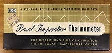 Vintage B-D Basal Temperature Thermometer, paperwork included