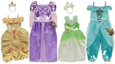 Book Week Disney Princess fancy dress Belle Jasmine Rapunzel Tiana Book Week NEW