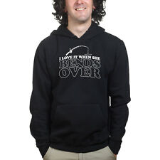 Bends Over Fishing Bait Rod Carp Bass Sweatshirt Hoodie Shirt