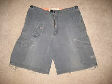 Mens American Eagle Navy Blue Cargo Shorts Destroyed Size Small