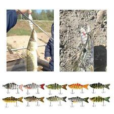 Jointed Fishing Lure Kinds Of Minnow Fish Bass Tackle Hooks Baits Crankbait U9W3