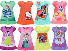 NEW Girls Disney Princess Nightie Nightgown Pyjamas Nightdress Age 3 - 7 Years