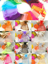 25/50/100pcs Wedding Favour Sheer Gift Bags Jewelry Packing Organza Pouch Bag