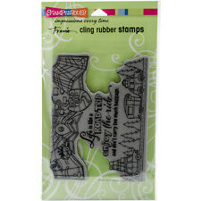 """Stampendous Cling Stamp 7.75""""X4.5""""-Enjoy The Ride"""