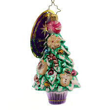 Christopher Radko SWEET SAPLING Glass Candy Tree Peppermint 3012987