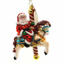 Christopher Radko CAROUSEL CLAUS 1017654 Ornament Santa Horse