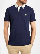 Lyle And Scott Mens Woven Collar Polo SP607V-Navy