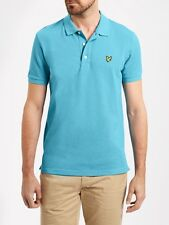 Lyle And Scott Mens Short Sleeve Polo SP400VM-Pacific Blue