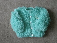 Hand Knitted Baby Loopy Cardigan in Mint Green ...0-6 months months