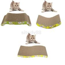 Large Cattit Corrugated Board Cat Scratcher Pad Kitten Catnip Bed Mat Toy