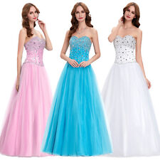 Sexy Long Chiffon Evening Strapless Party Ball Gown Prom Bridesmaid Dress ❀❀NEW❀