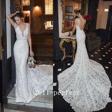 2017 Summer Sexy Mermaid Wedding Dresses Spaghetti Lace Bridal Gown High Quality