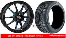 Alloy Wheels & Tyres 17'' Calibre Friction For Vauxhall Astra [F] 91-98