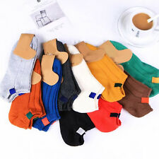 Thick Pure Cotton Colorful Boat Socks Sport Casual Comfortable Gift Short Ankle