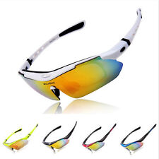 Polarized Cycling Bicycle Sunglasses Sports Eyewear Riding Goggles UV400 5 Lens