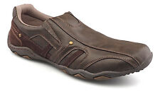 Mens New Brown Casual Leisure Slip On Comfort Shoes 6 7 8 9 10 11 12